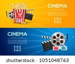 movie film banner design... | Shutterstock .eps vector #1051048763