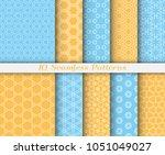 seamless pattern set in arabic... | Shutterstock .eps vector #1051049027