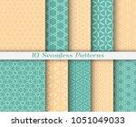 seamless pattern set in arabic... | Shutterstock .eps vector #1051049033