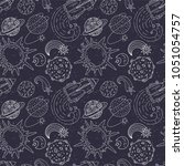 seamless vector pattern with... | Shutterstock .eps vector #1051054757