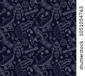 seamless vector pattern with... | Shutterstock .eps vector #1051054763