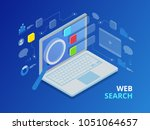 isometric search engine result... | Shutterstock . vector #1051064657