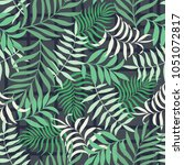 tropical background with palm... | Shutterstock .eps vector #1051072817