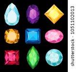 precious stones  gems of... | Shutterstock .eps vector #1051102013