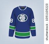 vector illustration of hockey...   Shutterstock .eps vector #1051105223