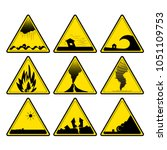 nature disaster warning signs | Shutterstock .eps vector #1051109753