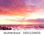 dusk rocks night is coming  | Shutterstock . vector #1051124633