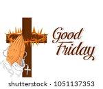 good friday background...   Shutterstock .eps vector #1051137353