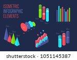 infographic 3d isometric design ... | Shutterstock .eps vector #1051145387