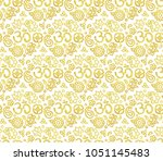 vector seamless pattern with... | Shutterstock .eps vector #1051145483
