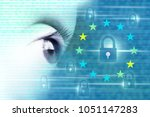 general data protection... | Shutterstock . vector #1051147283