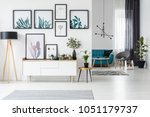 white living room interior with ... | Shutterstock . vector #1051179737