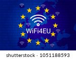 wifi4eu   free wi fi hotspots... | Shutterstock .eps vector #1051188593