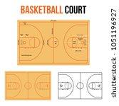 basketball court vector...   Shutterstock .eps vector #1051196927