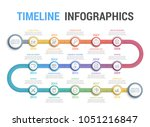 colorful timeline infographics... | Shutterstock .eps vector #1051216847