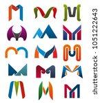 m letter icons template for... | Shutterstock .eps vector #1051222643