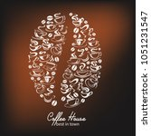 coffee house poster of coffee... | Shutterstock .eps vector #1051231547