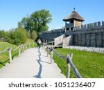 biskupin  kuyavian pomeranian... | Shutterstock . vector #1051236407