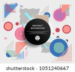 round abstract of geometric... | Shutterstock .eps vector #1051240667