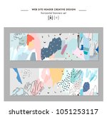 set of abstract creative... | Shutterstock .eps vector #1051253117