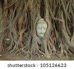 Head Of Sandstone Buddha In Th...