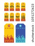 discount label tags for sale... | Shutterstock .eps vector #1051272623