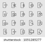 smartphone function line icon | Shutterstock .eps vector #1051285277