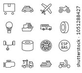 flat vector icon set   delivery ... | Shutterstock .eps vector #1051288427