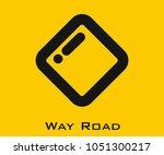 way road vector icon | Shutterstock .eps vector #1051300217