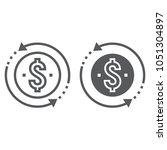 return on investment line and... | Shutterstock .eps vector #1051304897