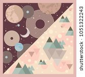 silk scarf design   Shutterstock .eps vector #1051322243