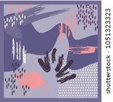 grunge scarf design   Shutterstock .eps vector #1051323323