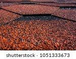 asphalt bitumen shingles photo. ...   Shutterstock . vector #1051333673