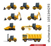 a set of construction machinery ... | Shutterstock .eps vector #1051344293