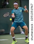 Small photo of INDIAN WELLS, CA - MAR 05-18: Leonardo Mayer at the BNP PARIBAS OPEN Tennis Tournament in Indian Wells, CA on March 14, 2018