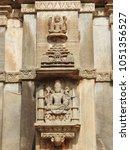 Small photo of Beautiful carvings at Sahastra Bahu Temples at Nagda, Udaipur, Rajasthan, India