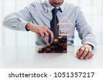 close up of businessman using...   Shutterstock . vector #1051357217