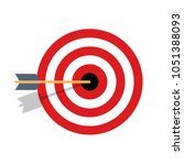 competitive concept  archery.... | Shutterstock .eps vector #1051388093