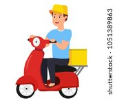 smiling young guy engaged in... | Shutterstock .eps vector #1051389863