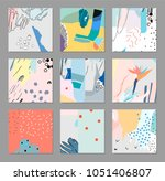 collection of creative... | Shutterstock .eps vector #1051406807
