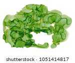 green alcohol ink background... | Shutterstock . vector #1051414817