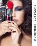 closeup portrait of attractive  ... | Shutterstock . vector #105142043