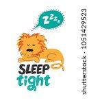illustration of a sleeping lion....