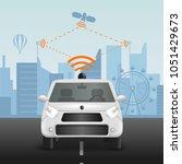 autonomous car realistic... | Shutterstock .eps vector #1051429673
