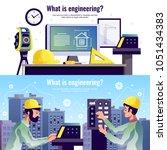 engineering horizontal banners...   Shutterstock .eps vector #1051434383
