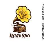 nostalgia  music logo or symbol.... | Shutterstock .eps vector #1051455017
