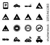 solid vector icon set   parking ... | Shutterstock .eps vector #1051461383