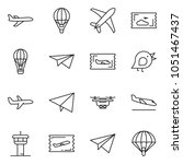 thin line icon set   fly ticket ... | Shutterstock .eps vector #1051467437