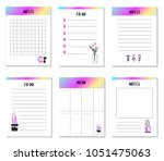 planner. organizer and... | Shutterstock .eps vector #1051475063
