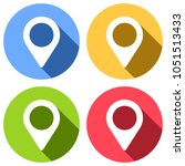 map label icon. set of white... | Shutterstock .eps vector #1051513433